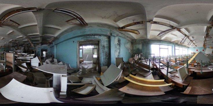 pupitres de la escuela de primaria pripyat