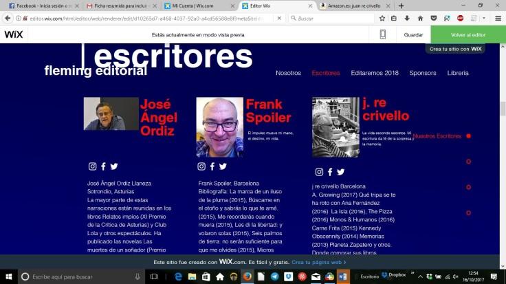 tres primeros escritores